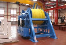 15Te fibre rope pull through winch