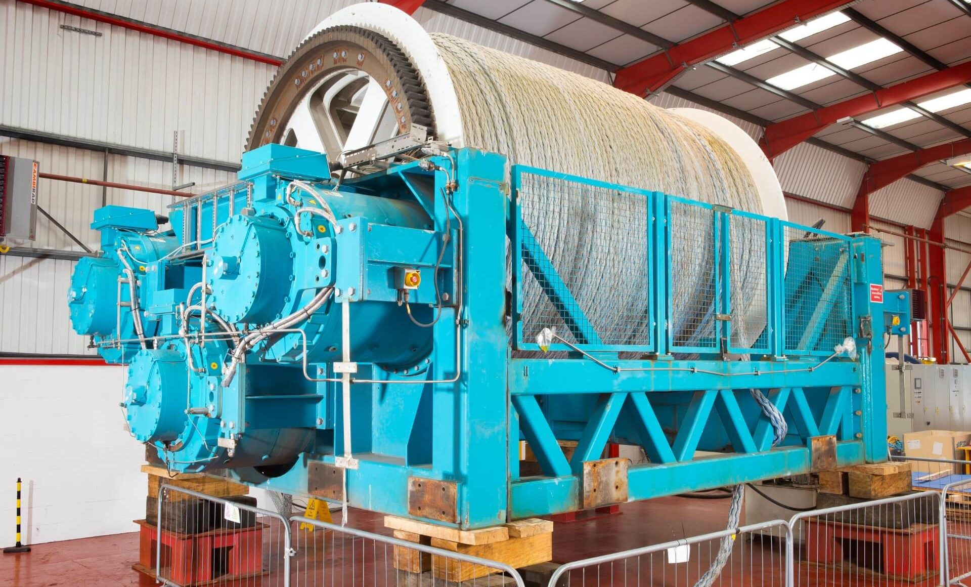 fibre rope winch